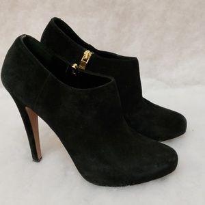 Suede Prada Heeled Boots